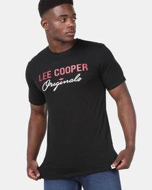 Lee Cooper M Carter Logo T-Shirt Black