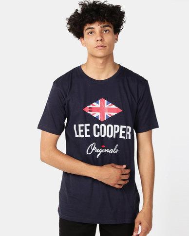 Lee Cooper M Owen Logo T-Shirt Navy