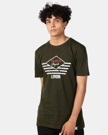Lee Cooper M Julian Logo T-Shirt Military