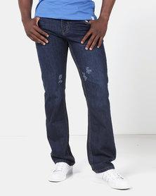 Lee Cooper M Rocco Harry Regular Straight Jeans Blue/Black