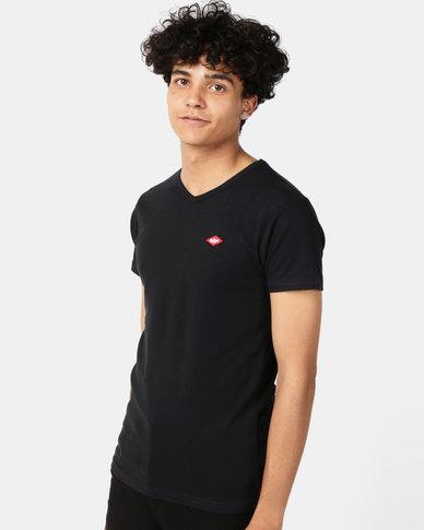 Lee Cooper M Rapids Plain T-Shirt Black