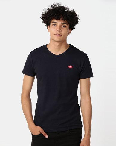 Lee Cooper M Rapids Plain T-Shirt Navy