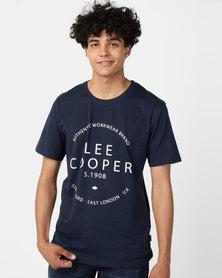 Lee Cooper M Landon Logo T-Shirt Navy