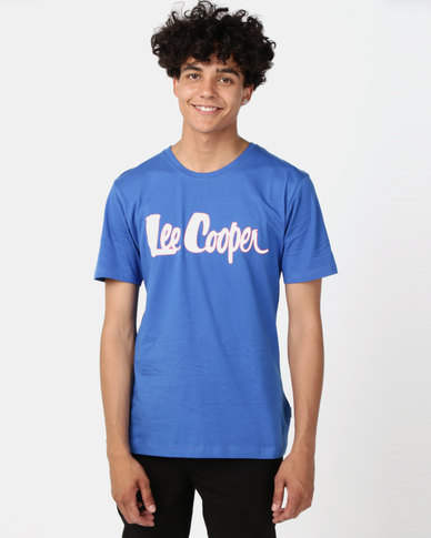 Lee Cooper M Hunter Logo T-Shirt Royal