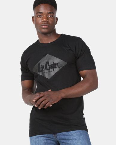Lee Cooper M Kyle Logo T-Shirt Black