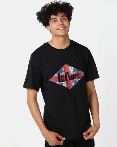 Lee Cooper M Junior Logo T-Shirt Black