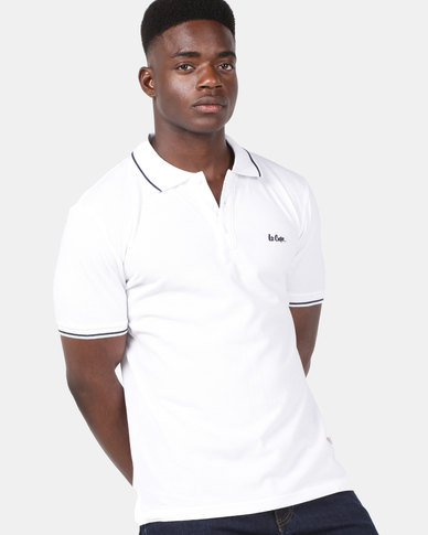 7f0c9117 Lee Cooper M Fierce Polo White | Zando