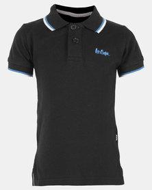 Lee Cooper Fierce Pique Golfer Black