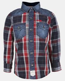 Lee Cooper Boys Long Sleeve Check Shirt