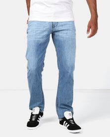 Lee Cooper M Archer Harry Straight Leg Jeans Mid Indigo