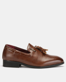 Anton Fabi Remo Boys Slip Ons Brown