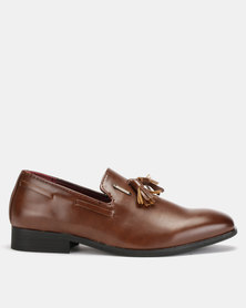Anton Fabi Remo Youths Slip Ons Brown