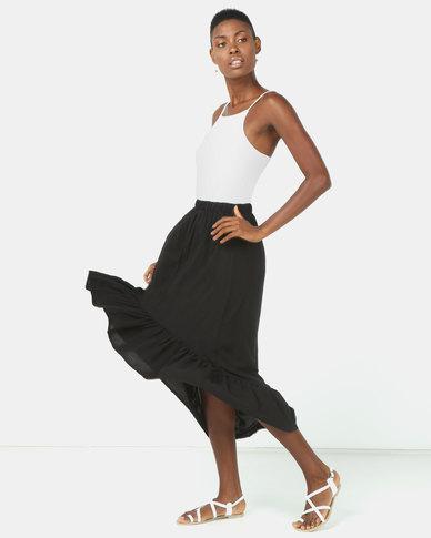 Utopia Ruffle Skirt Black