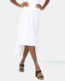 Utopia Ruffle Skirt White