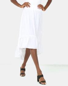 Utopia Ruffle Skirt White