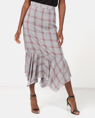 Utopia Check Flare Skirt Multi