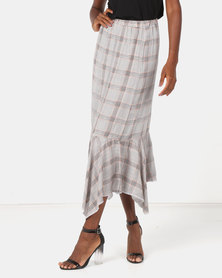 Utopia Check Flare Skirt Multi