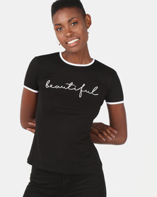 Utopia Beautiful Tee Black