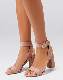 Forever New Sabrina Mid Block Heel Dusty Blush