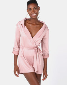 Sissy Boy Boity Bardot Shirt Playsuit Rose Smoke