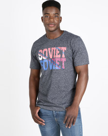Soviet M Jay Short Sleeve Logo T-Shirt Navy