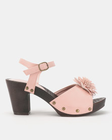 Franco Ceccato Flower Trim Ankle Straps Blush