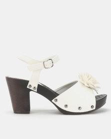 Franco Ceccato Flower Trim Ankle Straps White
