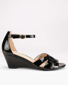 Franco Ceccato Closed Back On Wedges Black