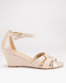 Franco Ceccato Closed Back On Wedges Nude