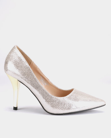 Franco Ceccato Pointy Metallic Heel Courts Light Gold