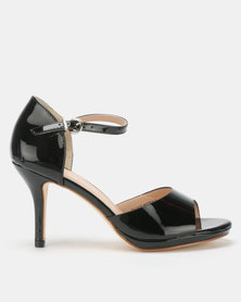 Franco Ceccato Closed Back Open Toe Sandals Black