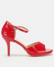 Franco Ceccato Closed Back Open Toe Sandals Red