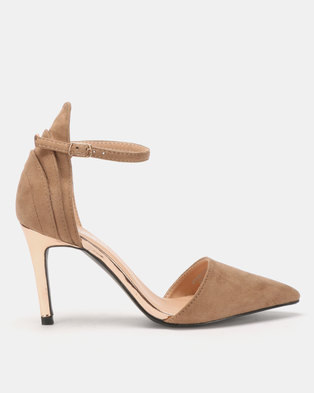 Franco Ceccato Open Waist Closed Back Heels Taupe