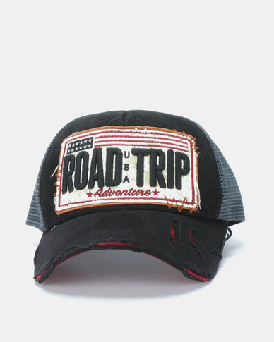 Ililily Road Trip USA l Cap Black Multi