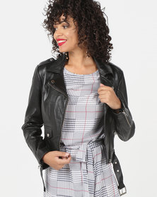 House of LB Buffy Leather Jacket Black