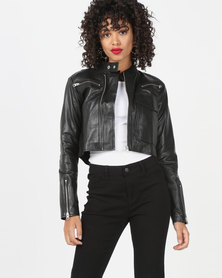 House of LB Rita Leather Jacket Black