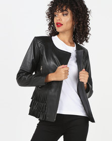 House of LB Empress Leather Jacket Black