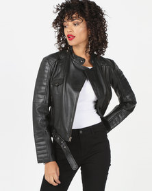 House of LB Cersie Leather Jacket Black