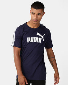Puma Sportstyle Core Ess Logo Tee Blue