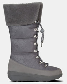FitFlop Harriet Shearling Boots Charcoal
