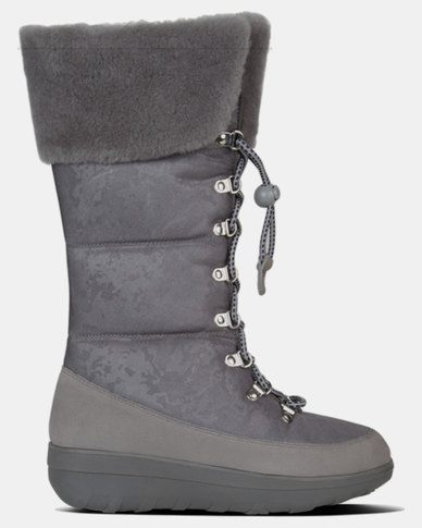 d4d6518ea40 FitFlop Harriet Shearling Boots Charcoal