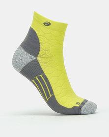 ASICS Road Quarter Socks Yellow