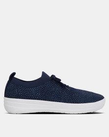 FitFlop F-Sporty Uberknit Sneakers Crystal Midnite Navy