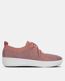FitFlop F-Sporty Uberknit Sneakers Crystal Dusky Pink/Soft Grey