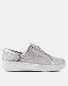 FitFlop F-Sporty Sneakers Python Urban White