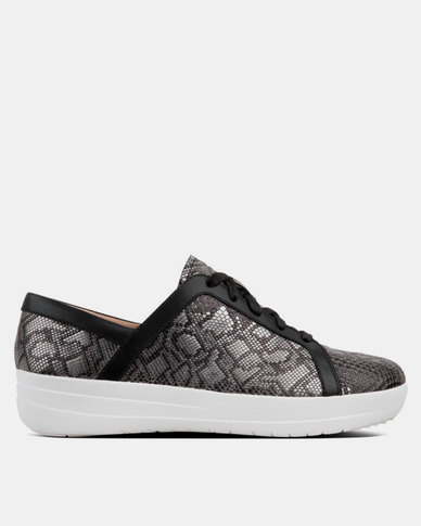 2ff694298b64 FitFlop F-Sporty Sneakers Python Black