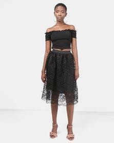 Legit Two Piece Prom Dress Black