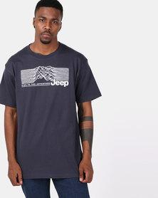 Jeep Short Sleeve Print Tee Navy