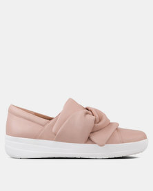 FitFlop F-Sporty Bow Sneakers Nude