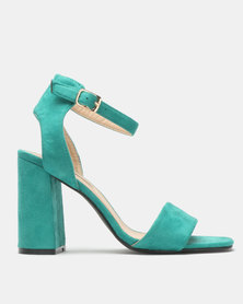 Legit Block Heel With High Quarter Ankle Strap Sandals Green